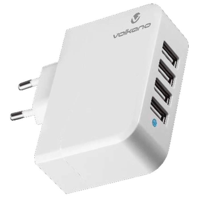 Volkano Quattro Series Smart USB wall charger with 4 ports