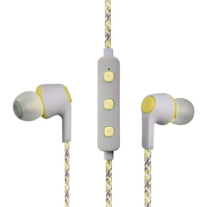 Volkano Moda Series Nylon Bluetooth Earphones Yellow