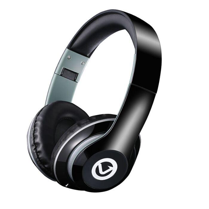 Volkano Rhythm series Ultra powerful Aux Headphones- Black