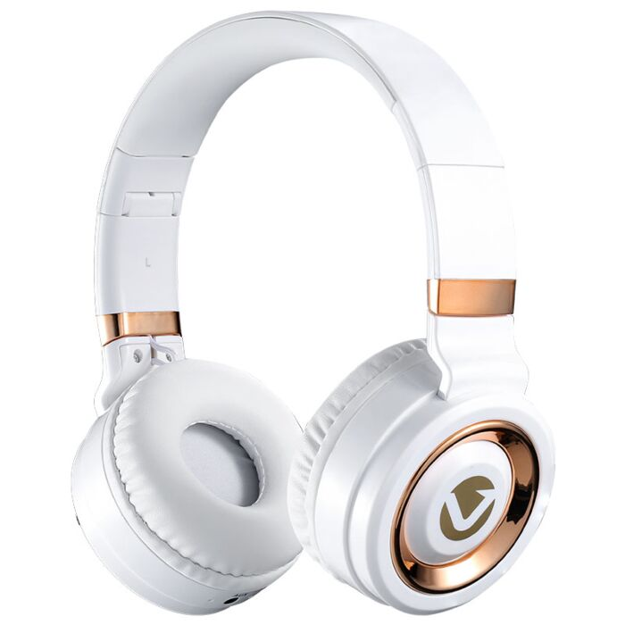 Volkano Lunar series Bluetooth headphones - White and Rose Gold