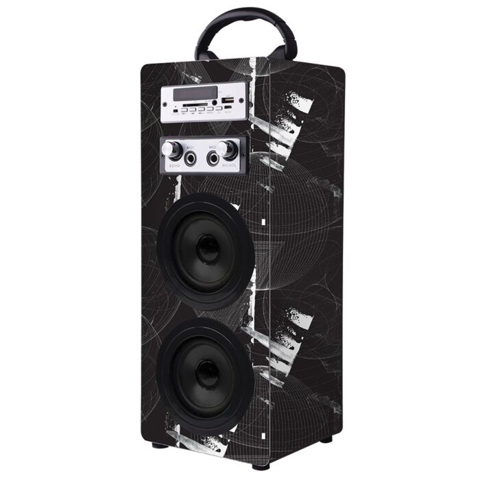 Volkano Carnival Series Wrapped AUX Tower Speaker Twin Conservative wrap