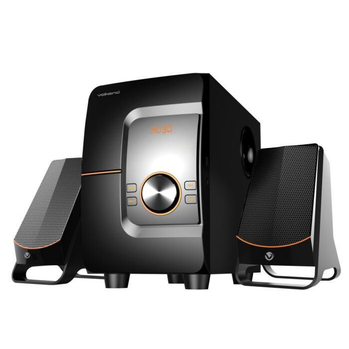 VolkanoX Comet Series 2.1 Speaker Black with USB Micro SD and Bluetooth