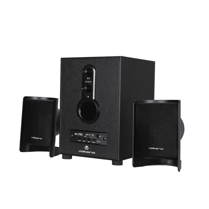 Volkano Pulsar Series 2.1 Speaker System With Bluetooth- Black