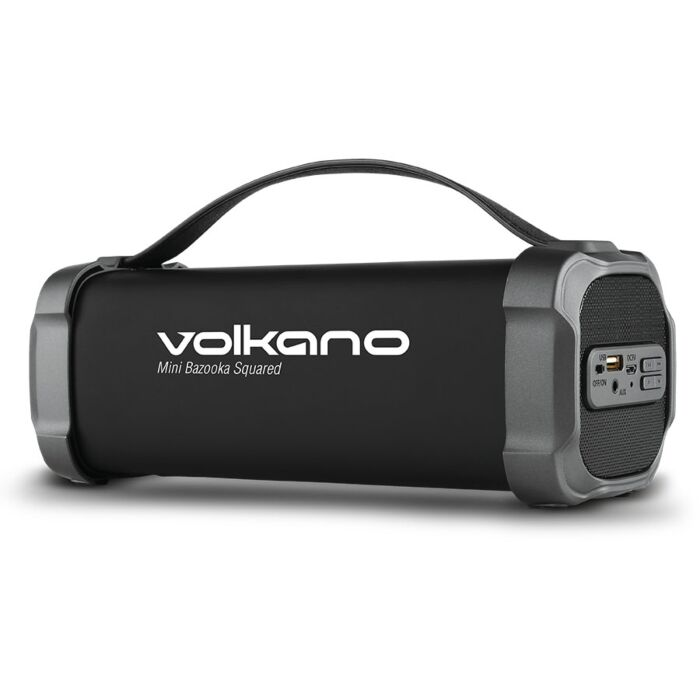 Volkano Mini Bazooka Squared series Bluetooth speaker Square shape - Black
