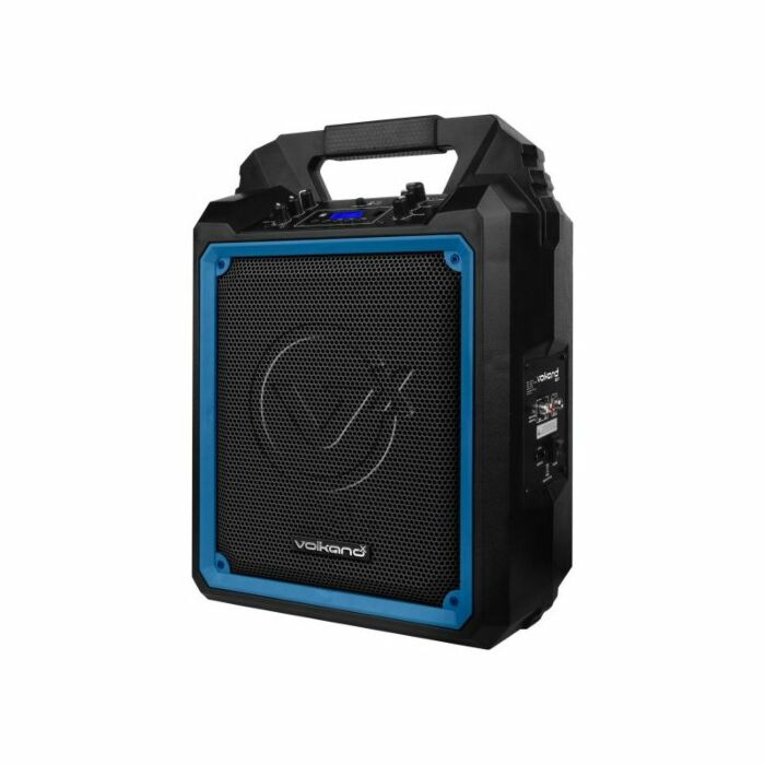 VolkanoX Mega Heavy 10 inch Speaker with Wired Mic Black