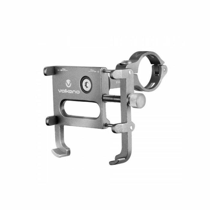Volkano Ingot Series Metal Cycle Phone Holder - Black