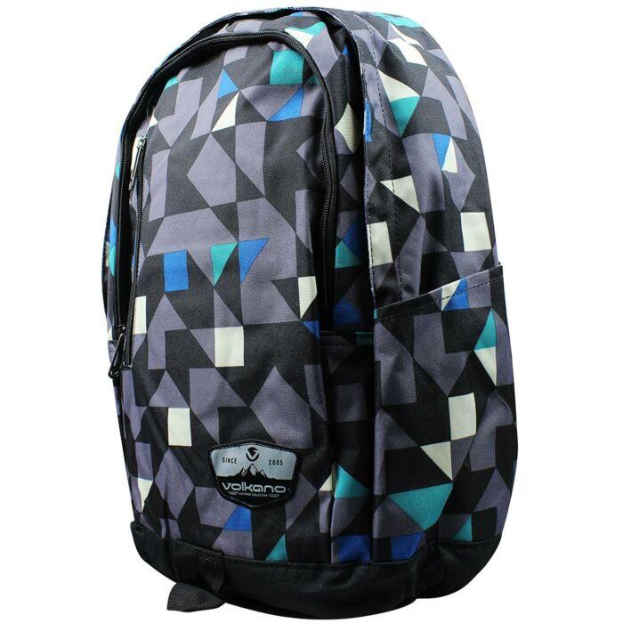 Volkano Geometric Backpack Blue