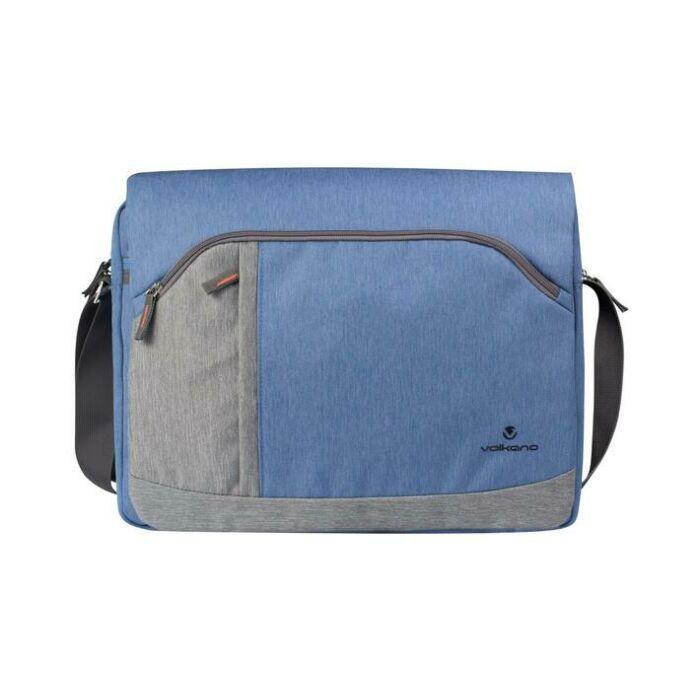 Volkano Breeze Series Shoulder Bag Blue and Grey