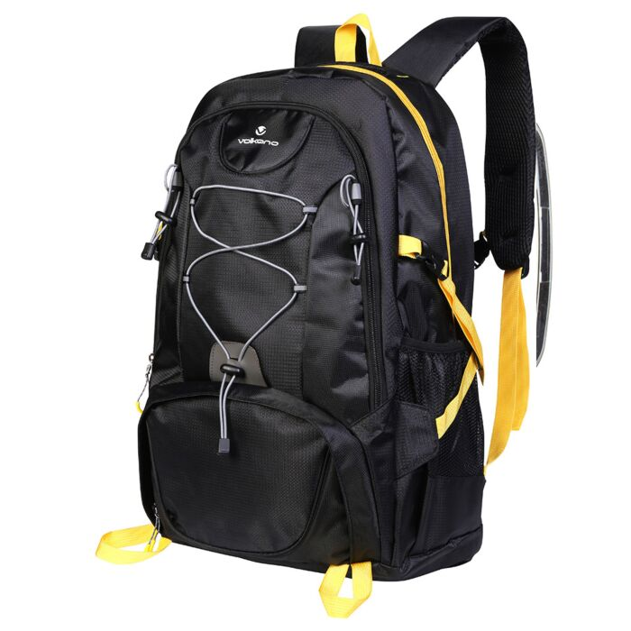 Volkano Clarence Day Pack 40L Black and Yellow