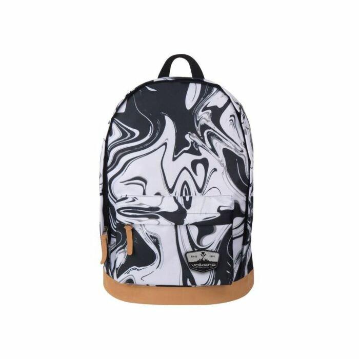 Volkano Suede Series Backpack Black Marble