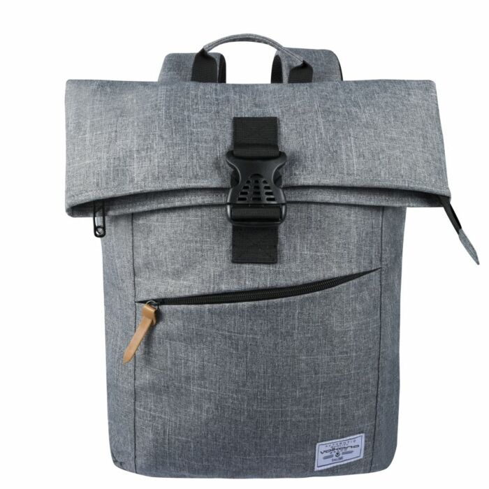 Volkano Roll-Over Laptop Satchel Grey Melange