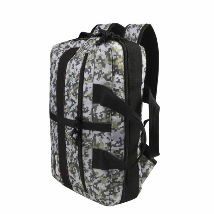 Volkano Storm Hybrid Laptop Bag Grey and White