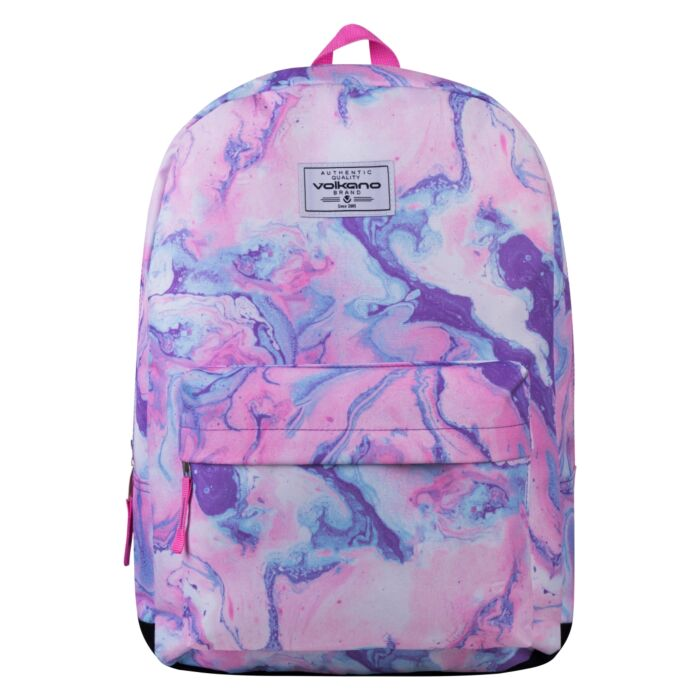 Volkano Diva Marble Backpack Pink