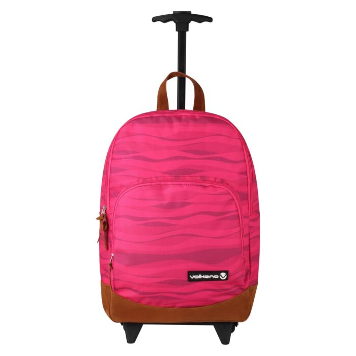 Volkano Diva Waves Trolley Backpack Pink