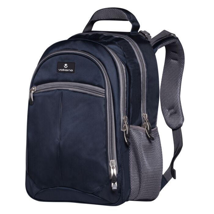 Volkano Orthopaedic Backpack 27L Navy and Grey