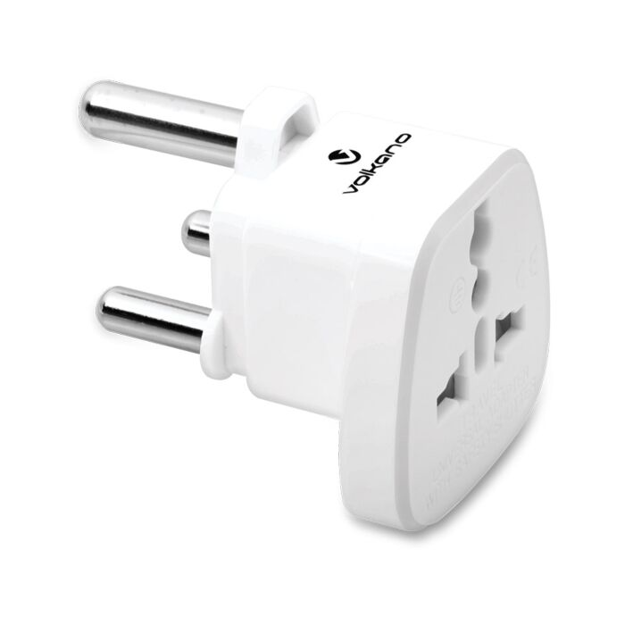 Volkano Traveler Series Travel Plug UK/Kenya Socket to India/Africa 3Pin Plug