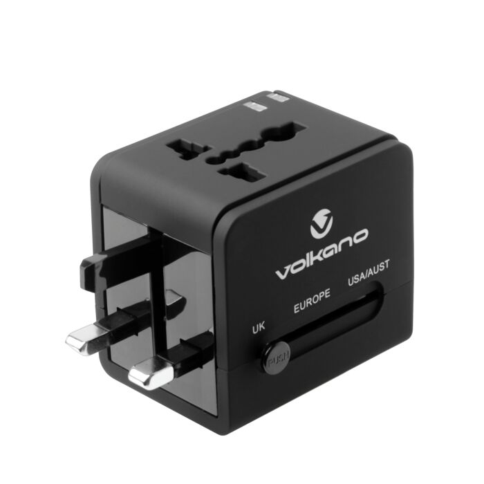 Volkano International Series Travel Adaptor Plug With 2 USB Charge Ports