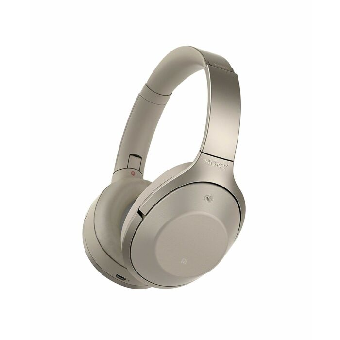 Sony 1000XMK2 Wireless Bluetooth NFC Headphones with Noise Cancelling Beige