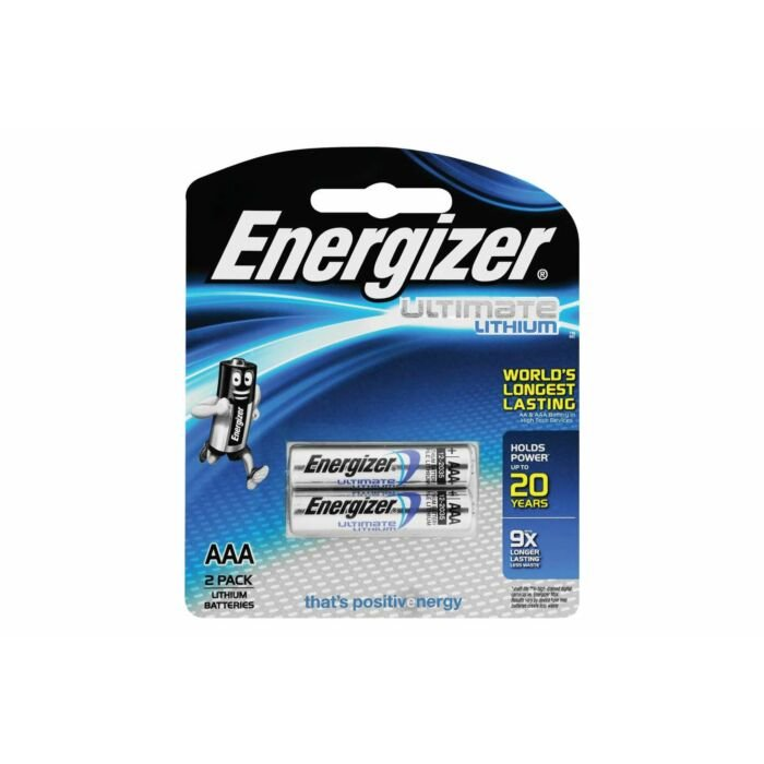 Energizer Lithium AAA Blister Pack 2