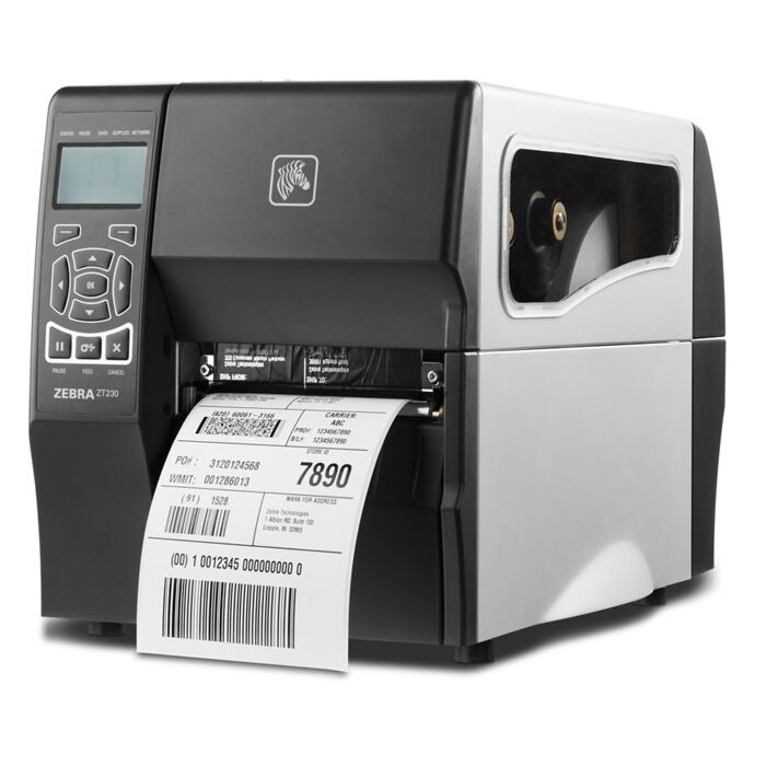 Zebra ZT-230-T0E200FZ 203dpi Direct Thermal or Thermal Transfer Label Printer with LCD