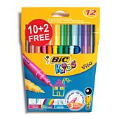 BIC Kids Visa Marker 10+2 (Box of 25)