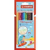 STABILO 12 Aquacolor Aquarellable Colour Pencil (Box-6)