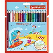 STABILO 24 Aquacolor Aquarellable Colour Pencil (Box-6)