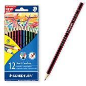 STAEDTLER NORIS CLUB COLOURING PENS PLUS 2 HB PENCILS