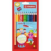 STABILO 12 Assorted Jumbo Colour Pencil (Box of 6)