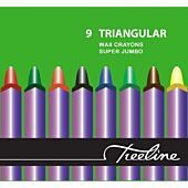 Treeline 9 Triangle Jumbo Wax Crayons (Box of 12)