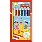 STABILO Trio 12 Assorted Thick Colour Pencil (Box of 6)