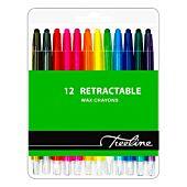 TREELINE RETRACTABLE WAX CRAYONS 12 PCS