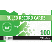Treeline 127 x 203mm 100 Feint Ruled Record Cards