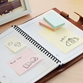 Stickn 38x50 Pastel Notes Assorted 100 Sheets Per Pad Box-12