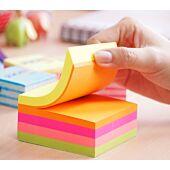 Stickn 76x76 Assorted Neon Cube 400 Sheets Per Pad