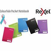 Rexel Colourhide Feint Ruled Pocket Notebook (60gsm)(96 Pages)(Black)