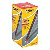 Bic Crystal Ultra Fine Red Box-60
