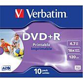 Verbatim - 4.7GB DVD+R (16x) - Printable Jewel Case