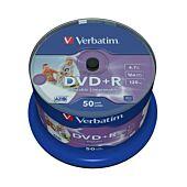 Verbatim - 4.7GB DVD+R (16x) - Printable No ID Spindle