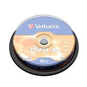 VERBATIM 4.7GB DVD-R (16X) Matt Silver Spindle (Box of 10)