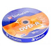Verbatim - DVD-R 4.7GB (16x) Matt Silver Wagon Wheel - 10 Pack