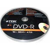 TDK DVD-R 5PK 16X 120min 4.7GB