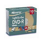 Memorex Lighscribe DVD-R 10 PCK J Case