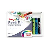 Pentel Fabric Fun PTS-7 Pastel Dye Sticks for Fabric
