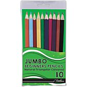 TREELINE JUMBO COLOURING PENCILS 10'S