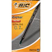 Bic Crystal Ultra Fine Black Box-60