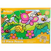 Butterfly Wooden Puzzle A4 12 Piece Assorted Designs