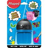MAPED Color'Peps Paint Water Pot Storage Solution for 12 Tubes 2 Compartments Brush Holding and Wringing (Box-6)