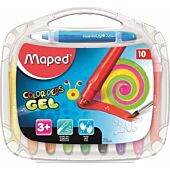 MAPED Color'Peps Soft Watercolour Gel 10's Crayons that Glide Smoothly (Box-12)