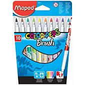 MAPED Color'Peps Brush Tip 10 Assorted Colour (Box-12)